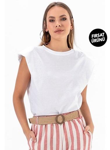 Emjey Fırsat Ürünü-Vatkalı T-Shirt Beyaz
